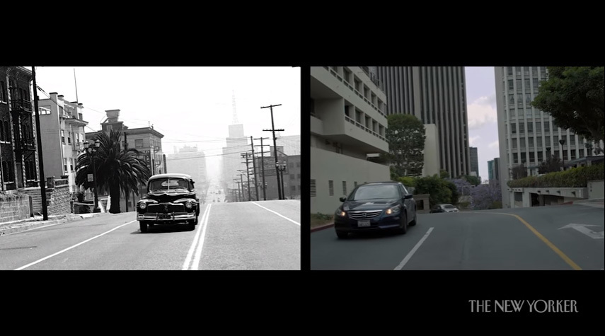 Still from Keven McAlesters short film Seventy Years of Los Angeles, Then and Now for The New Yorker. (Source: YouTube)