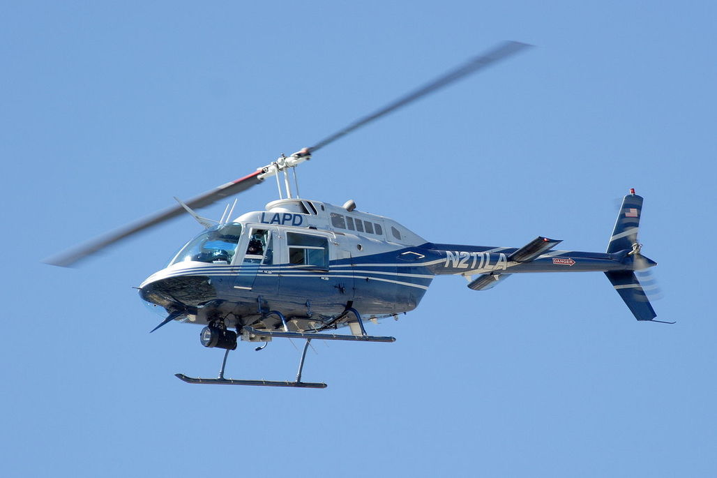 "An LAPD ""Jetranger"" helicopter via wikimedia.org"