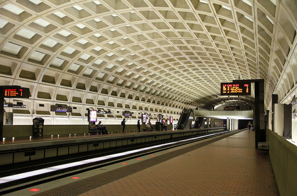 The DC Metro might feature impressive coffered ceilings, but its fall apart. Image via wikimedia.org