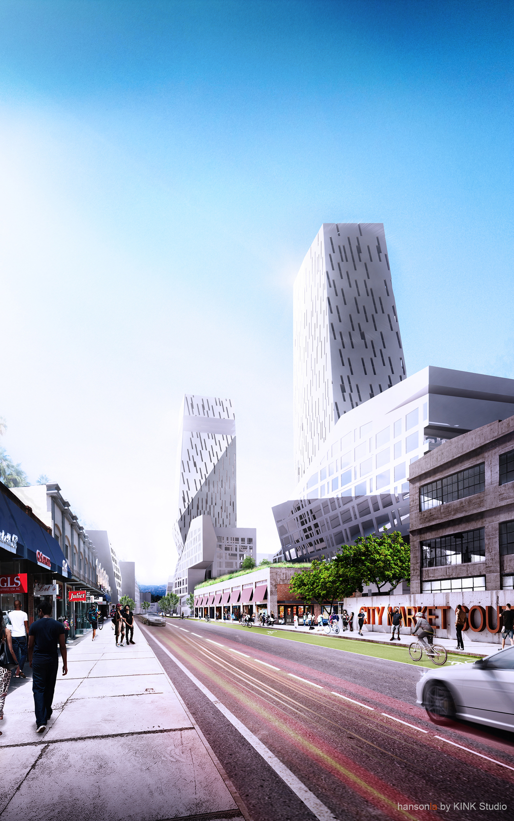 City Market Los Angeles redevelopment by HansonLA. Rendering by KINK Studio.