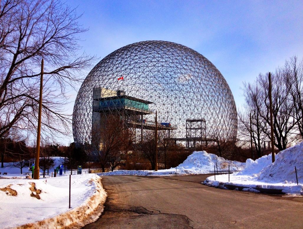 Buckminster Fullers Biosphere in Montreal. Photo: Alex Faris/Wikipedia.org