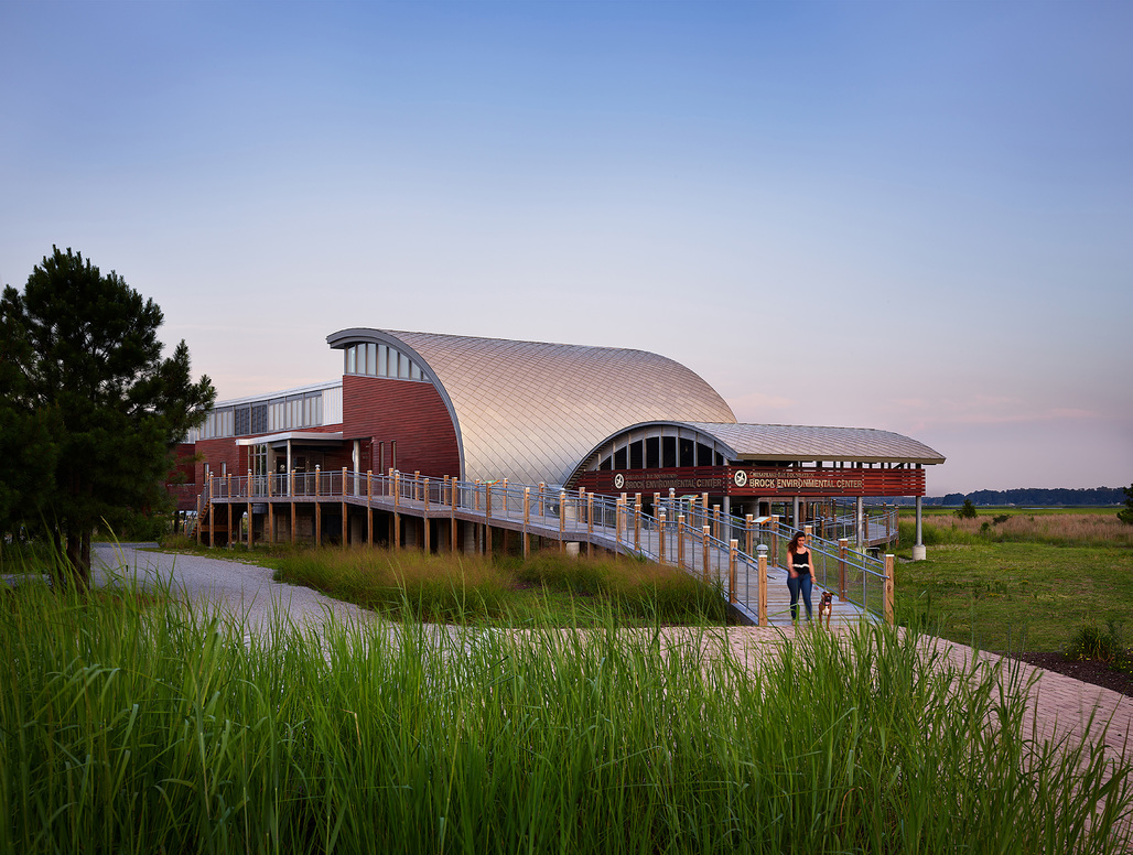AIA COTE Top Ten Plus honoree: Brock Environmental Center​; Virginia Beach, Virginia. Architect: SmithGroupJJR. ​Photo: Prakash Patel Photography.