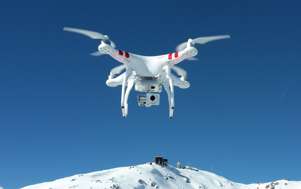The DJI Phantom quadcopter. Credit: Wikipedia