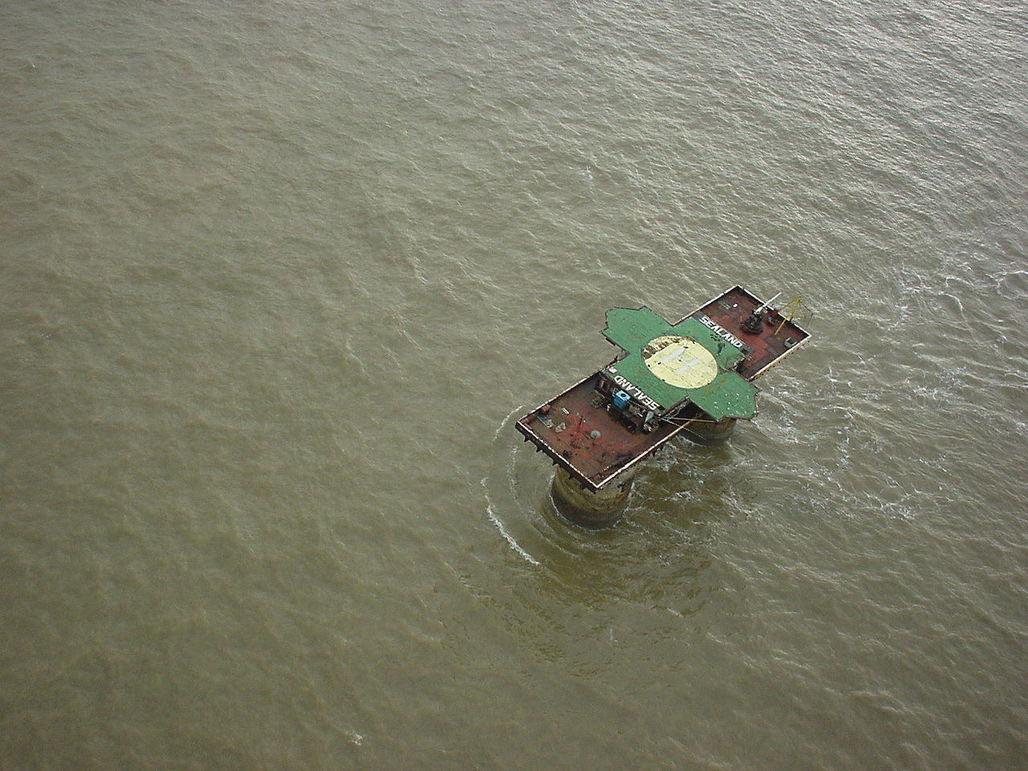 Sealand from above. (Photo: Ryan Lackey; Image via Wikipedia)