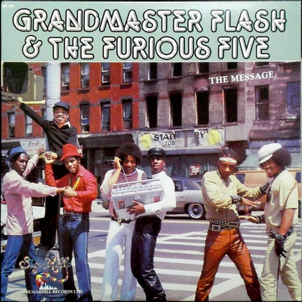"Cover of Grandmaster Flash and the Furious Fives ""The Message."" Image: senscritique.com"