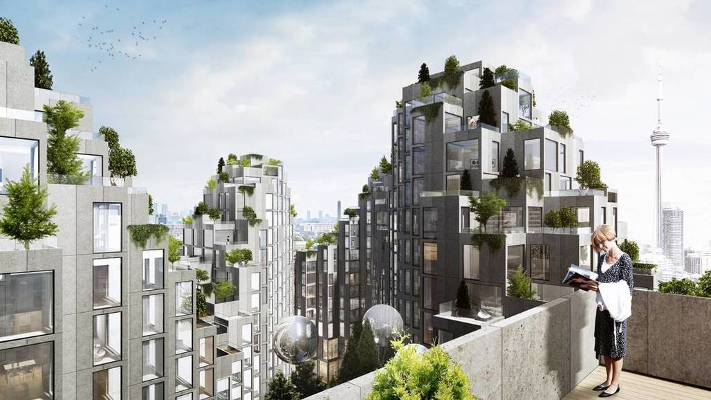 BIGs proposed ziggurat-like housing project for King Street in Toronto. Image credit: BIG, via The Globe and Mail.