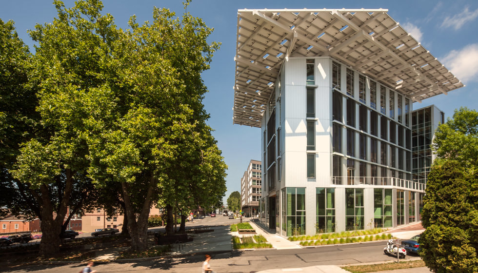 Seattles super-green Bullitt Center is the largest of the worlds 11 projects that are Living Building-certified. Though blessed with plenty of Southern California sunshine to achieve net-zero energy, the proposed Santa Monica building has to overcome issues of severe drought and the states arid climate to also reach net-zero water. (Image via bullittcenter.org)