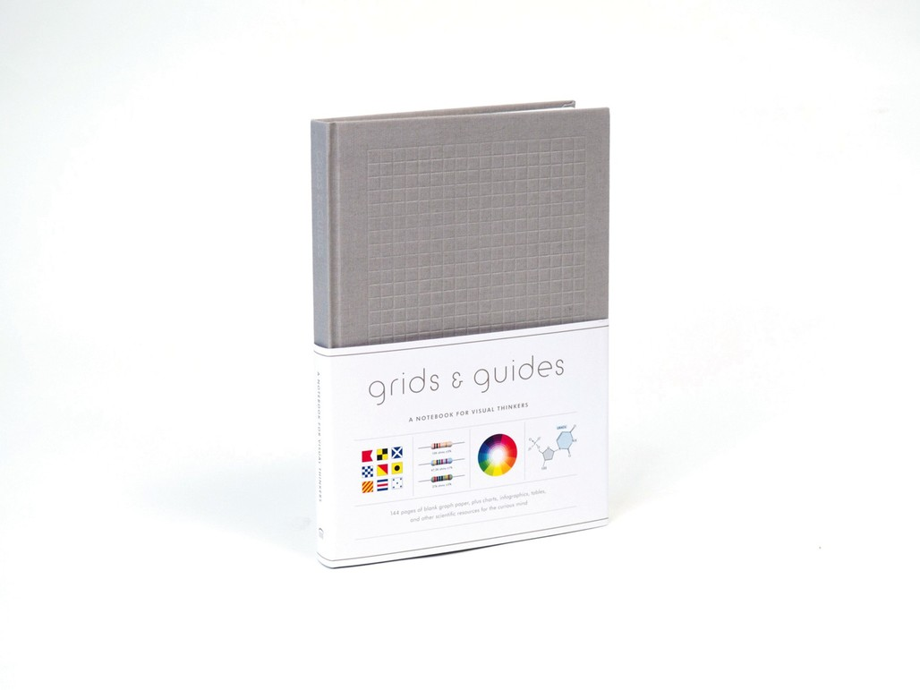 The new Grids & Guides Notebook for Visual Thinkers in gray. Photo courtesy of Princeton Architectural Press.