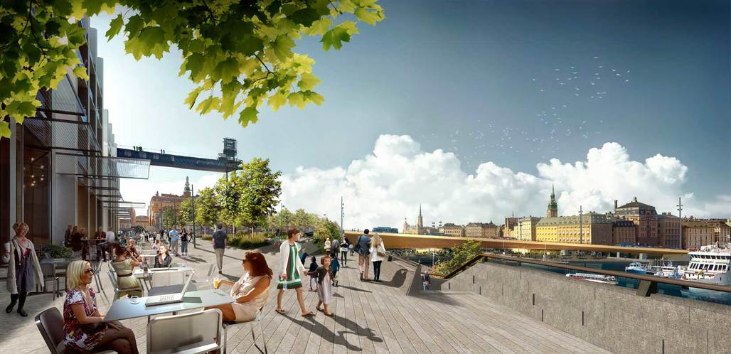 A rendering of the New Slussen project by Foster + Partners. Credit: Foster + Partners