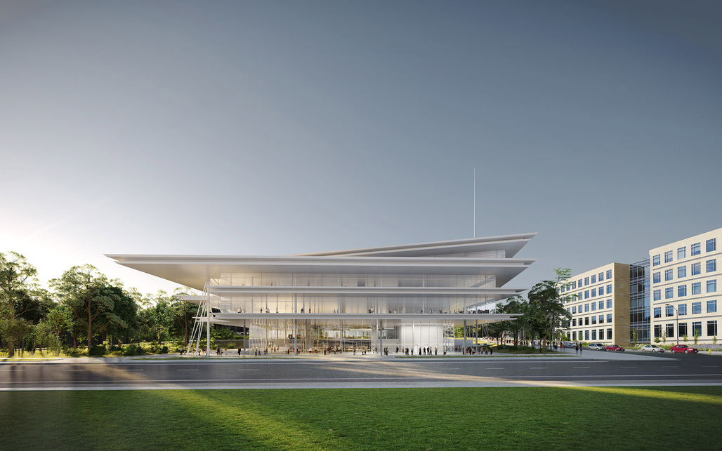 Front View. Image courtesy of Renzo Piano Building Workshop.
