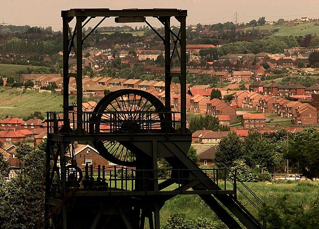 Coal mining, once the backbone of the industrial revolution and critical in the rise of the British Empire, shaped many towns like nothing else in the kingdom (pictured is Barnsley, South Yorkshire). Times have changed though, and its now lights out for the countrys last deep-pit coal mine.