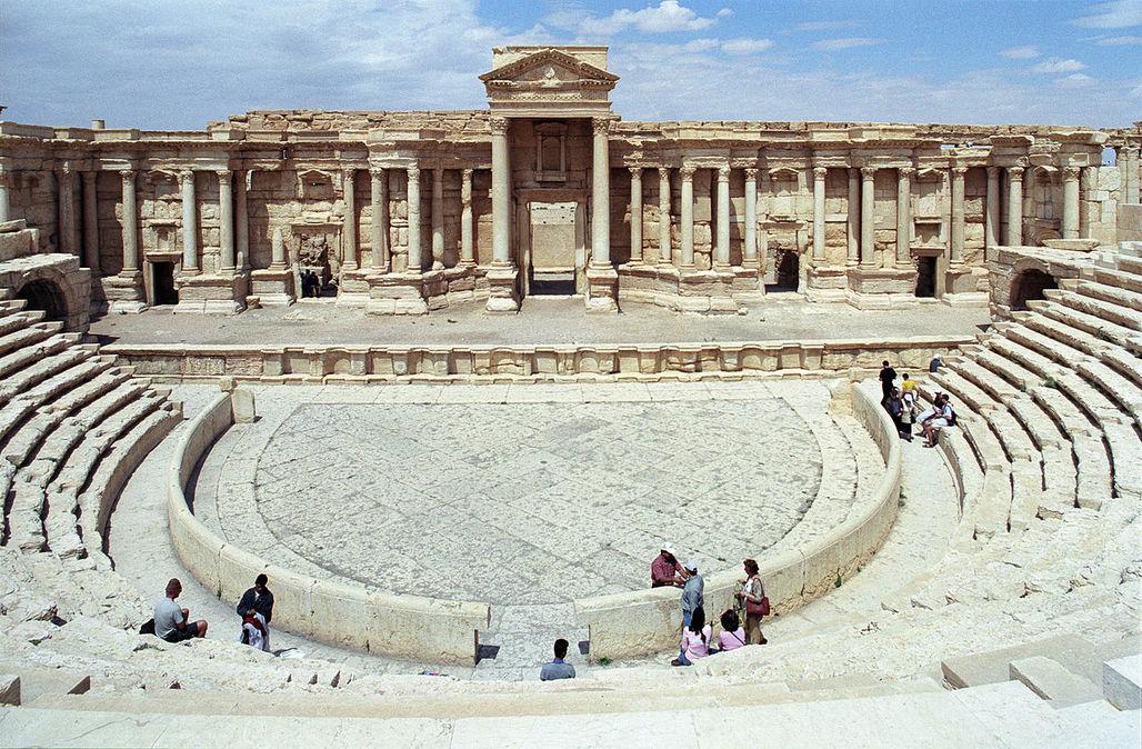 The antique theater of the vast Palmyra historic site in the Syrian desert. (Photo: Jerzy Strzelecki/Wikipedia)