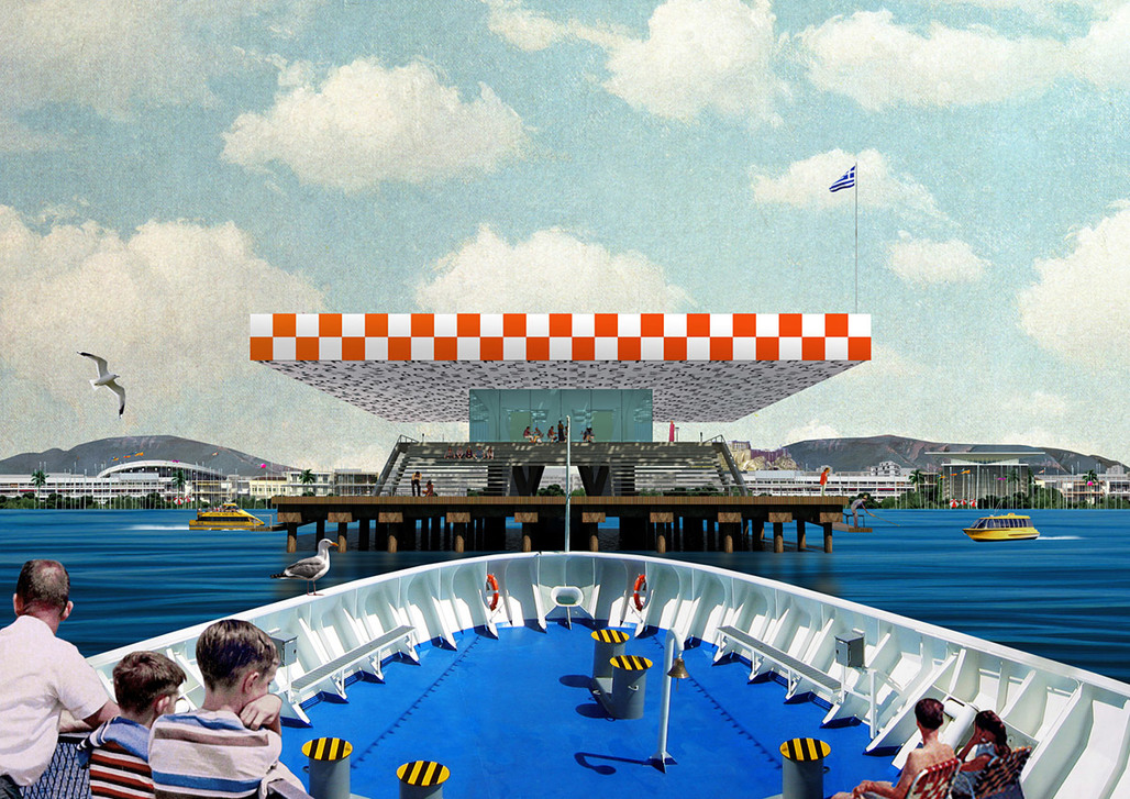 Frontal sea view of Faliro Pier Athens (Image: Point Supreme Architects)