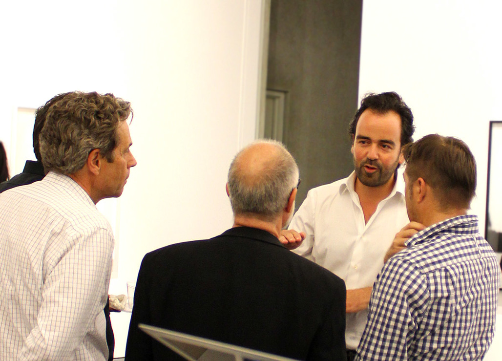 Iwan Baan (2nd from right) in conversation (Photo: Alexander Walter)