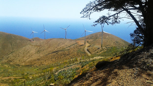 Wind turbines of El Hierro on the Canary Islands. Credit: Lauren Frayer for NPR