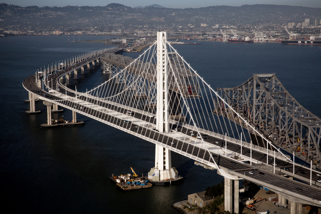 The pricey new Eastern span of the San Francisco-Oakland Bay Bridge (via businesswire)