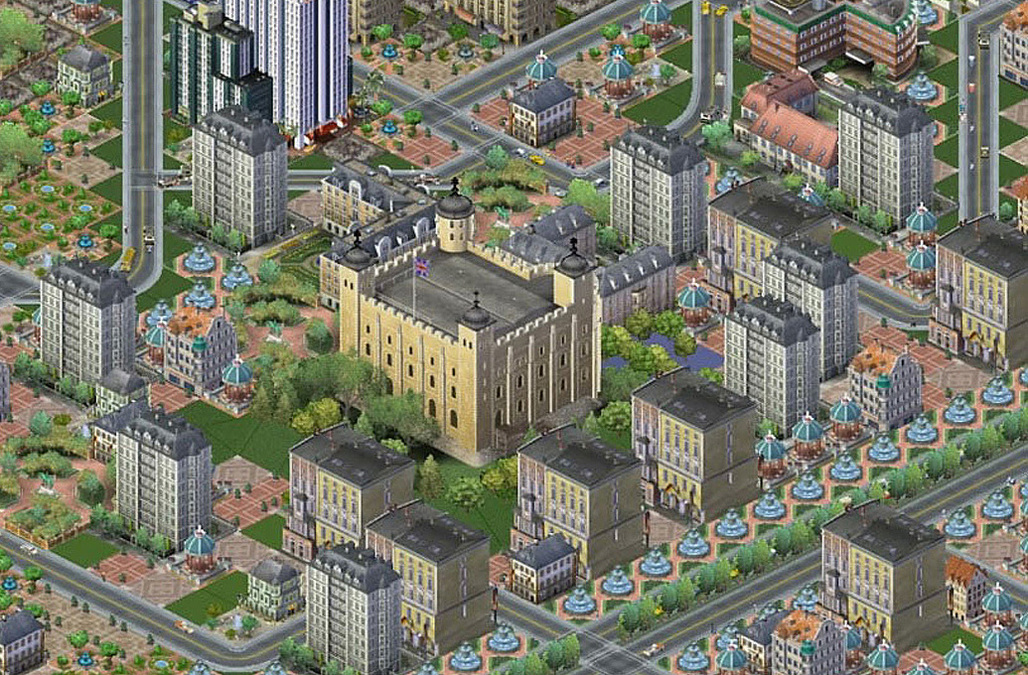 Image: The Tower of London in SimCity 3000 © Electronic Arts