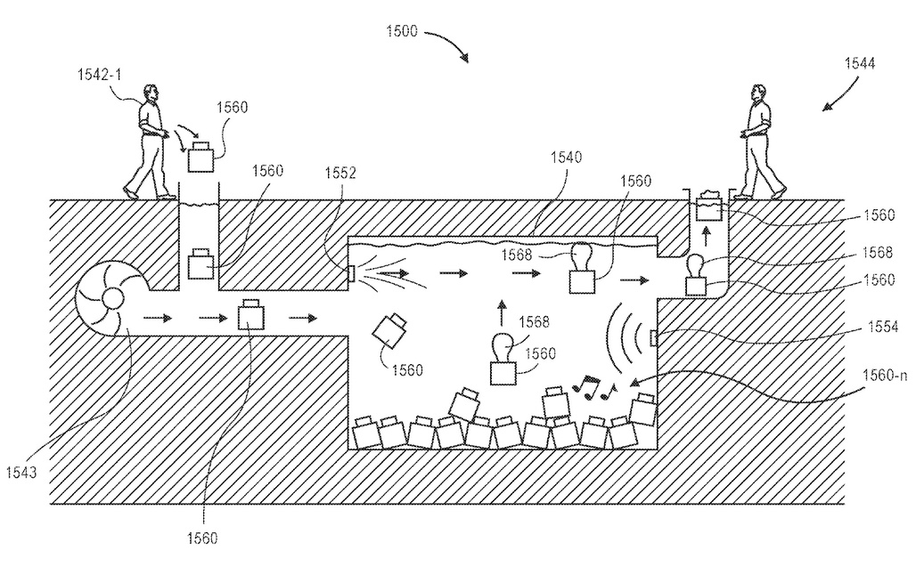 "Illustration from Amazons recent patent for ""Aquatic Storage Facilities"". Image via United States Patent Office."