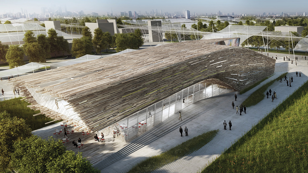 Austrian Expo Pavilion proposal by Bence Pap and Mario Gasser. Image courtesy of Bence Pap and Mario Gasser.