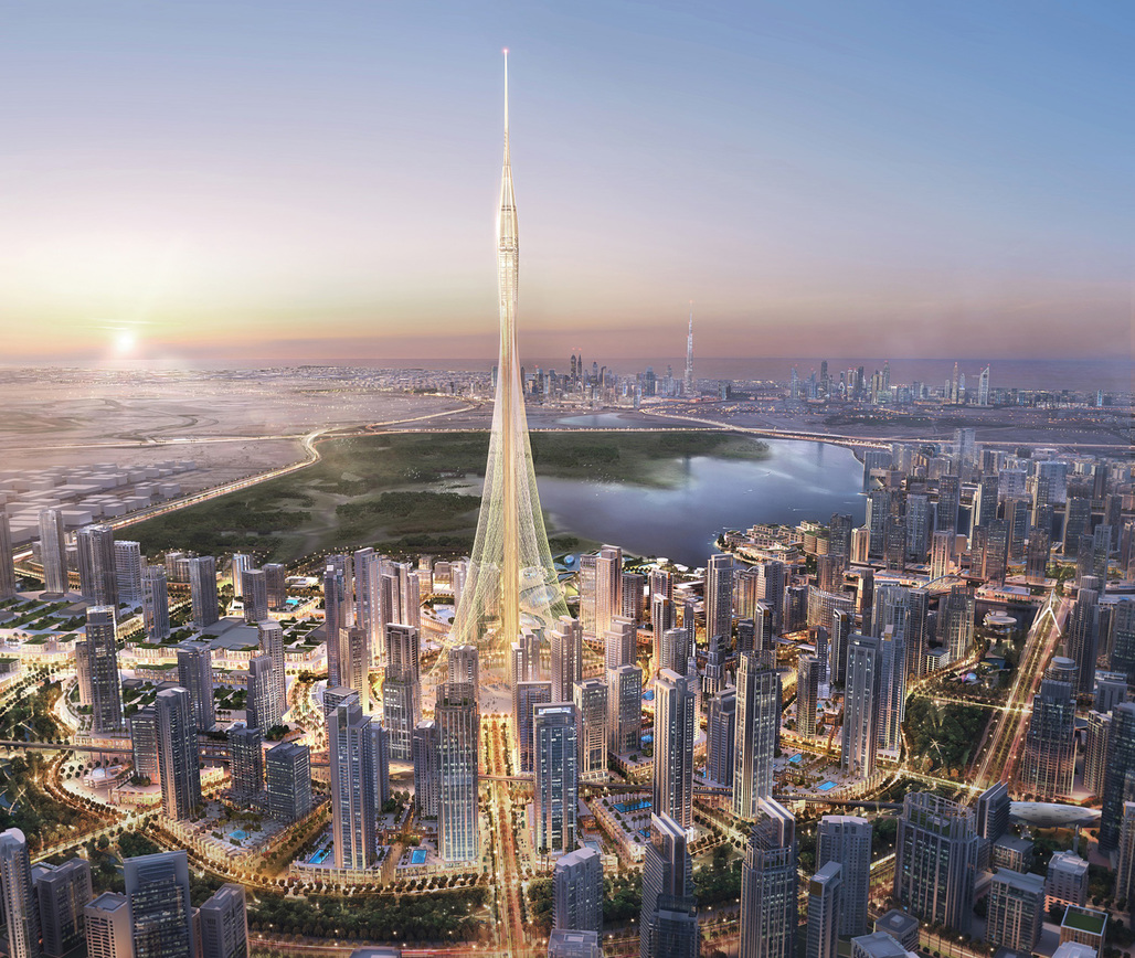 All hail the temporarily tallest tower: rendering of the Calatrava-designed Observation Tower at the Dubai Creek Harbor development. (Credit: Emaar Properties)
