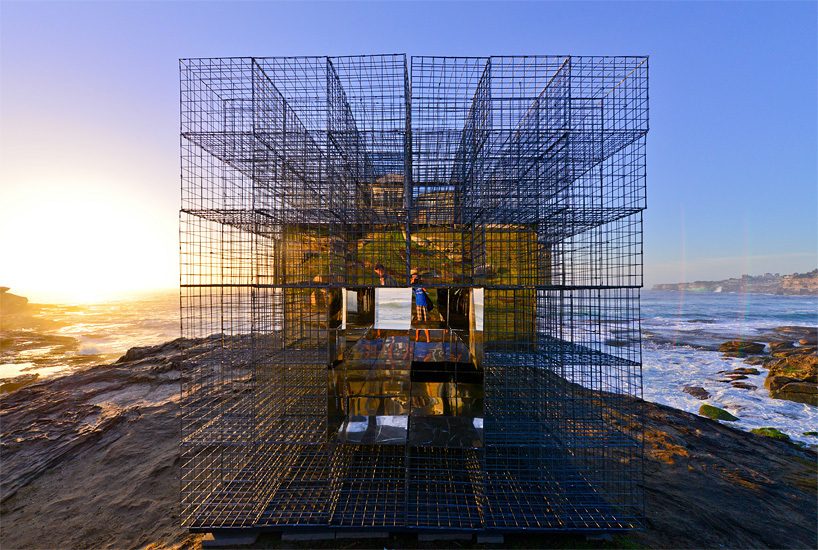 NEON's House of Mirrors at Sculpture by the Sea. Photo courtesy of NEON.
