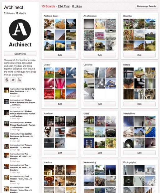 Archinects Pinterest Boards