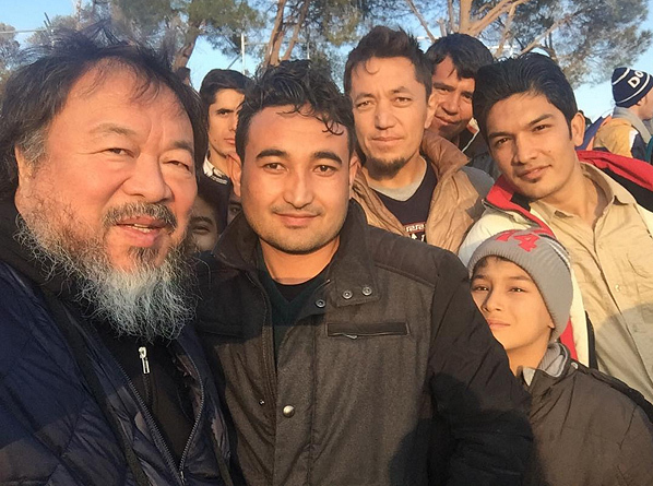 """Brave man from Afghanistan,"" Ai Weiweis caption reads on Instagram (@aiww)."