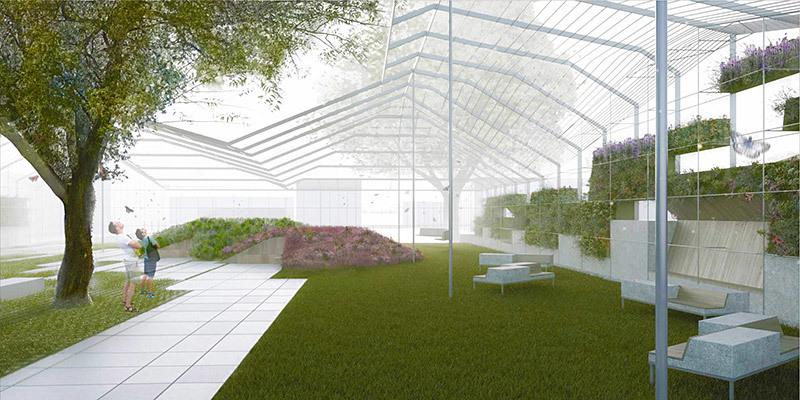 """Wynwood Greenhouse Park"" by Nick Gelpi, Roberto Rovira, Jim Drain - 1st place winners of the Wynwood Gateway Park Competition"