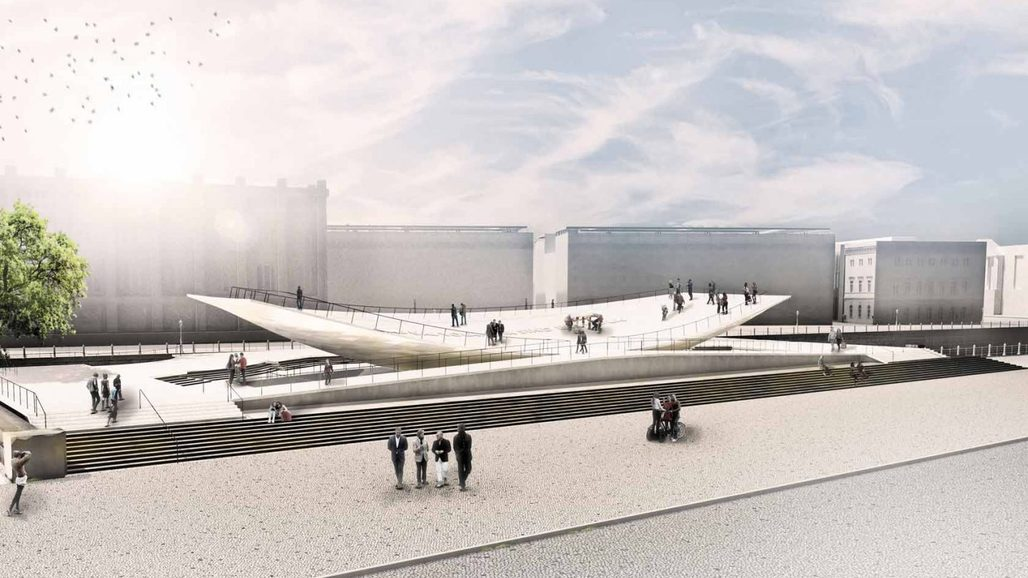 "The ""Citizens in Motion"" Monument to Freedom and Unity by Milla & Partner is slated for inauguration on November 9, 2019. Image via milla.de."