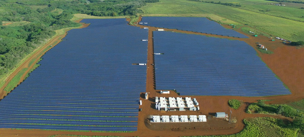 The Kauai Island Utility Cooperative is getting closer to its goal of meeting 70% of the island's energy demand with renewable energy by 2030. Photo: Tesla.