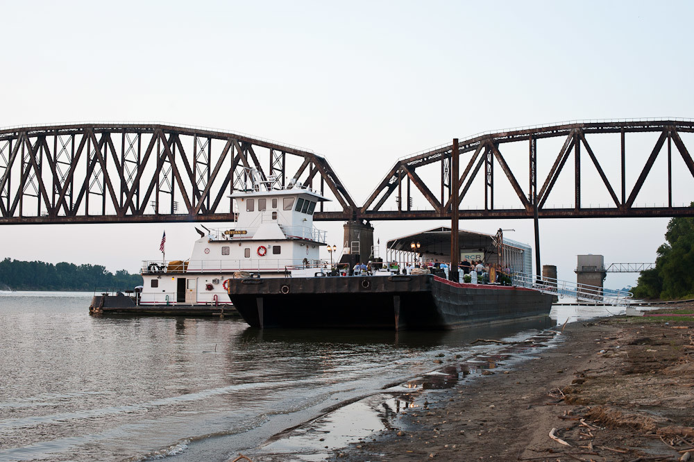 """Butch Branson's barge refitted as a party barge for first of the """"River City Tours."""""""