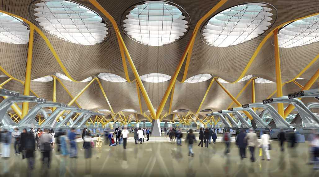Madrid-Barajas Airport, Madrid, by Richard Rogers