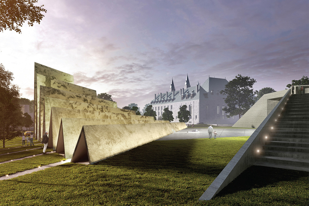 ABSTRAKT Studio Architectures winning design for the National Memorial to Victims of Communism.