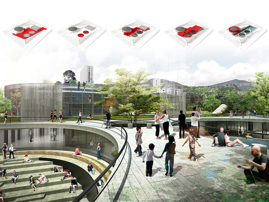 Holcim Awards - Latin America 2014, Gold: Articulated Site: Water reservoirs as public park. MAIN AUTHORS: Mario Fernando Camargo Gómez - Colectivo720, Cali, Colombia; Luis Orlando Tombé Hurtado - Colectivo720, Cali, Colombia