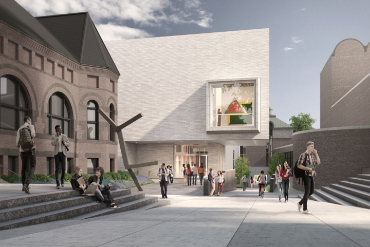 Rendering of TWBTAs proposed Hood Museum of Art expansion at Dartmouth College. (Rendering: MARCH; Image via twbta.com)