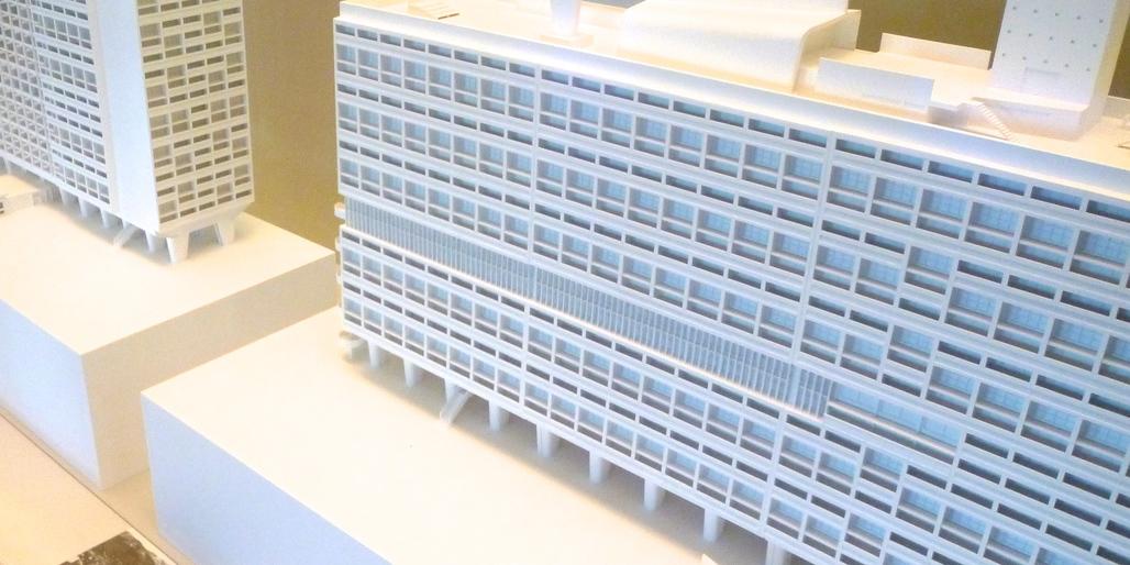Models of Unité d'habitation in the cité de larchitecture et du patrimoine, Paris - Image Eleanor Marshall