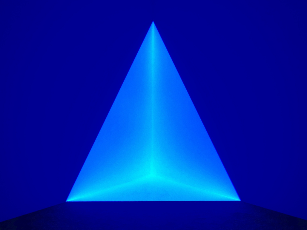 "One of James Turrells holographic images exhibited at the University of Kansas Art Museum in 2013. Photo by: Dean Hochman, via <a href=""https://www.flickr.com/photos/deanhochman/19420578394""target=""_blank"">Flickr</a>."