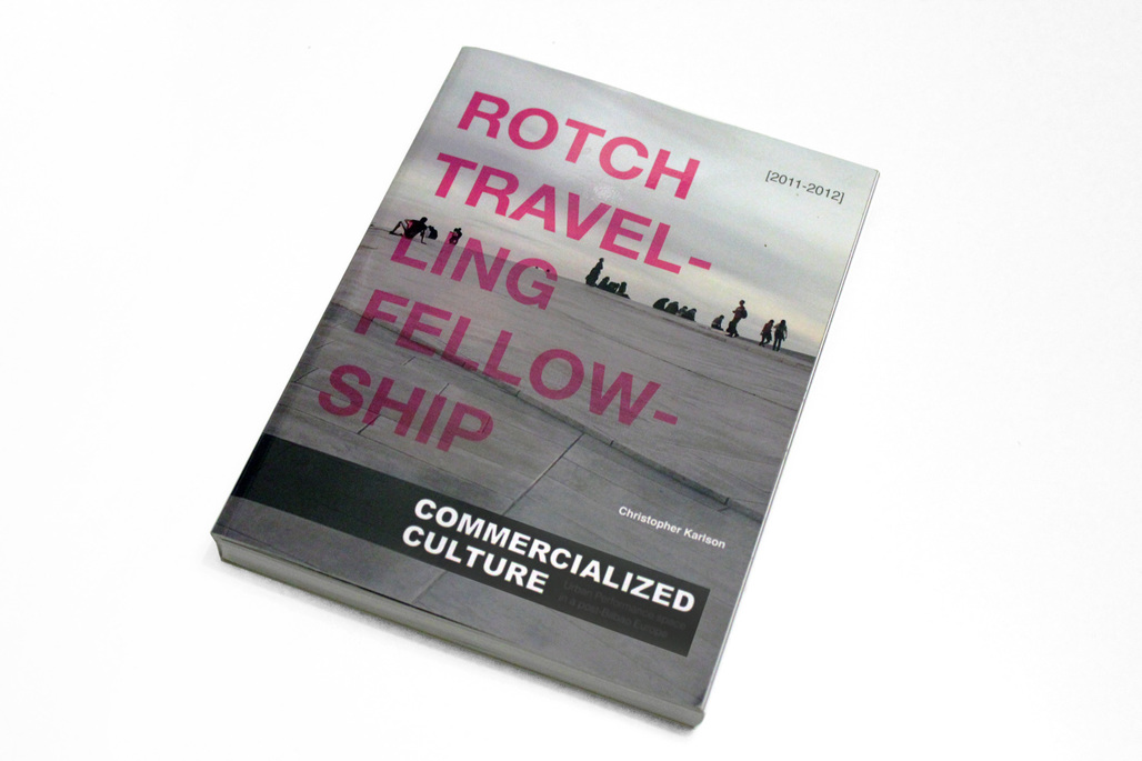 The research documentation of Rotch Travelling Scholar Christopher Karlson is now available as a print-on-demand book. Image courtesy of Christopher Karlson.