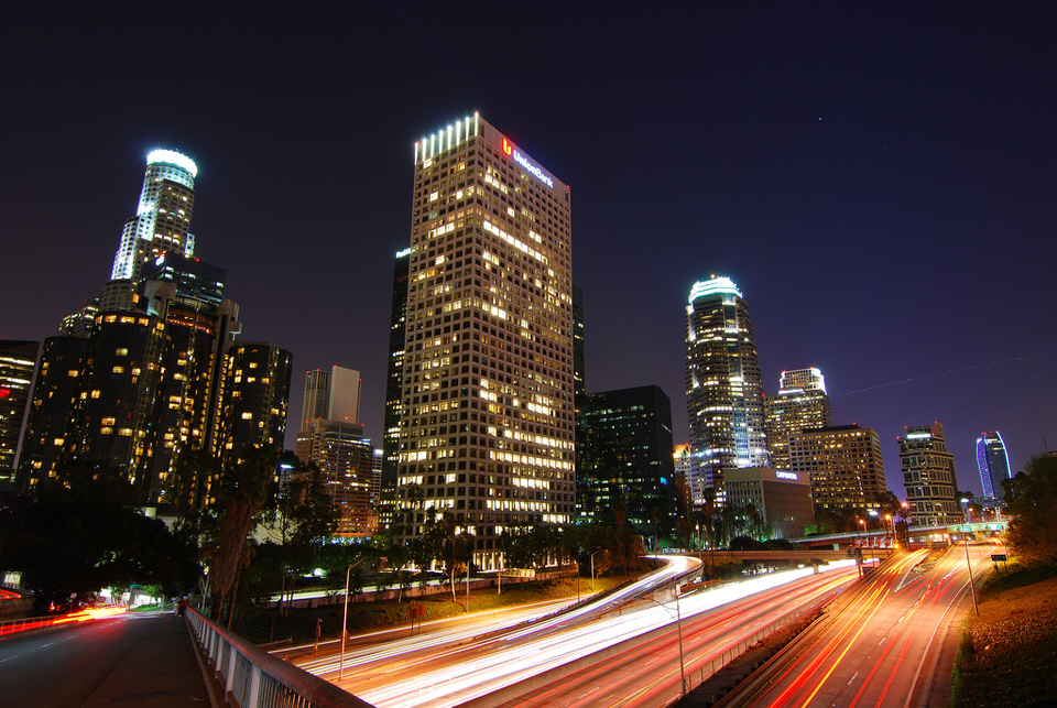 The 110 Freeway in Downtown Los Angeles. Photo by nathanpirtz, via flickr.