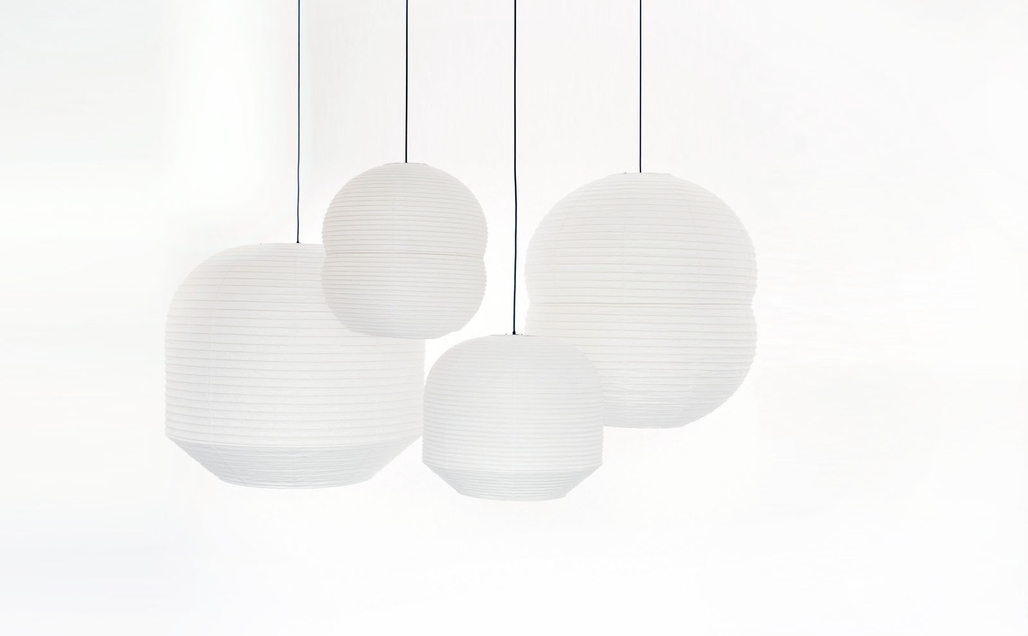 Barber & Osgerbys Hotaru Lanterns, one of the many items on display at the Stockholm Furniture and Light Fair