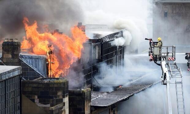 """People weeping in the streets around @GSofA Macintosh building Heartbreaking"" - Twitter user Graham McLaren (@MCLAREN_G)"