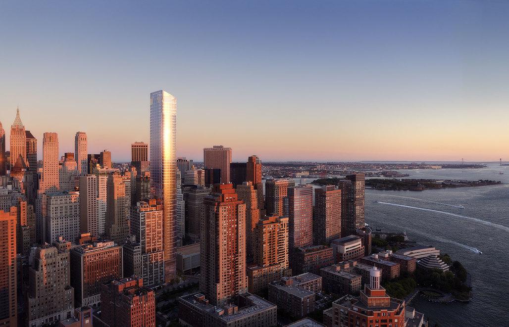 Rendering of the new 50 West Street tower. Image via 50westnyc.com