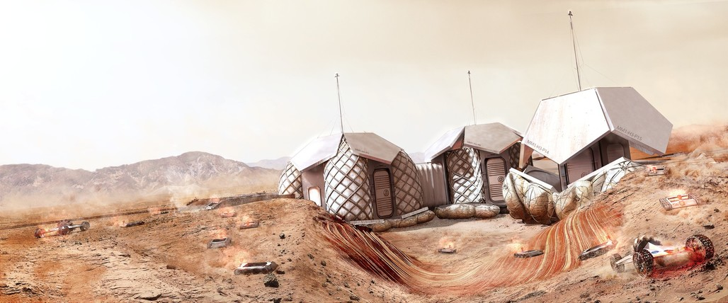 Foster + Partners Mars Habitat concept. Image © Foster + Partners.