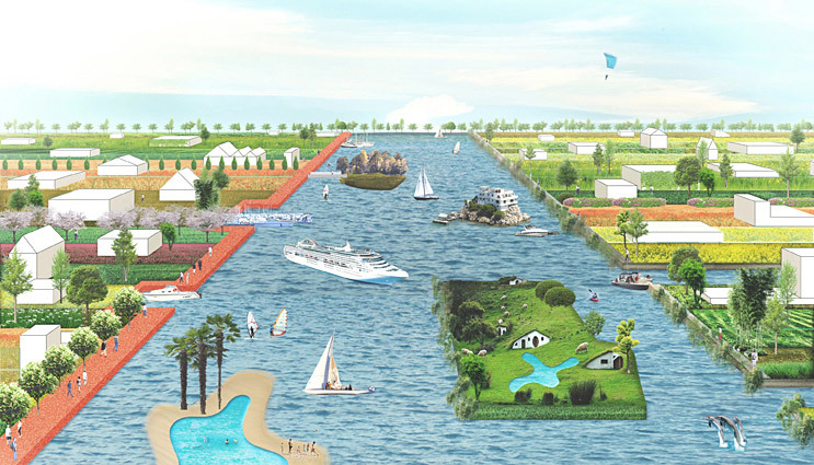 The proposal Central Lake for the EUROPAN 11 Leeuwarden challenge by BudCud (Image: BudCud)