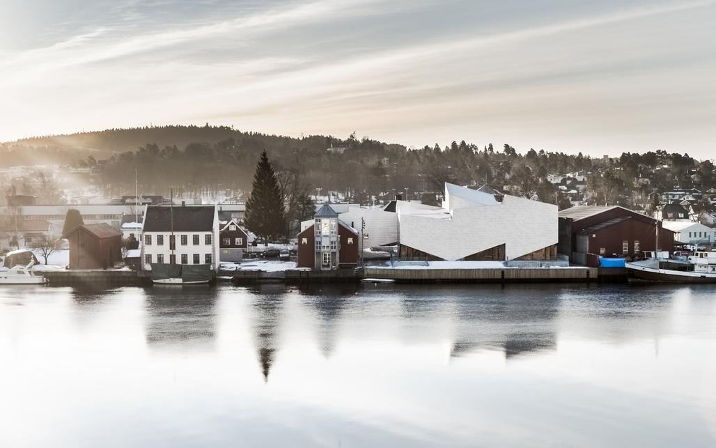The Maritime Museum and Exploratorium by COBE and Transform in Porsgrunn, Norway. Credit: Rasmus Hjortshoj