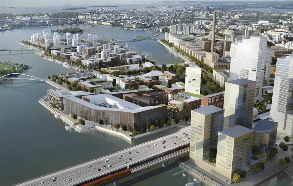 Kalasatama by 2030. Image: Voima Graphics Oy / City of Helsinki