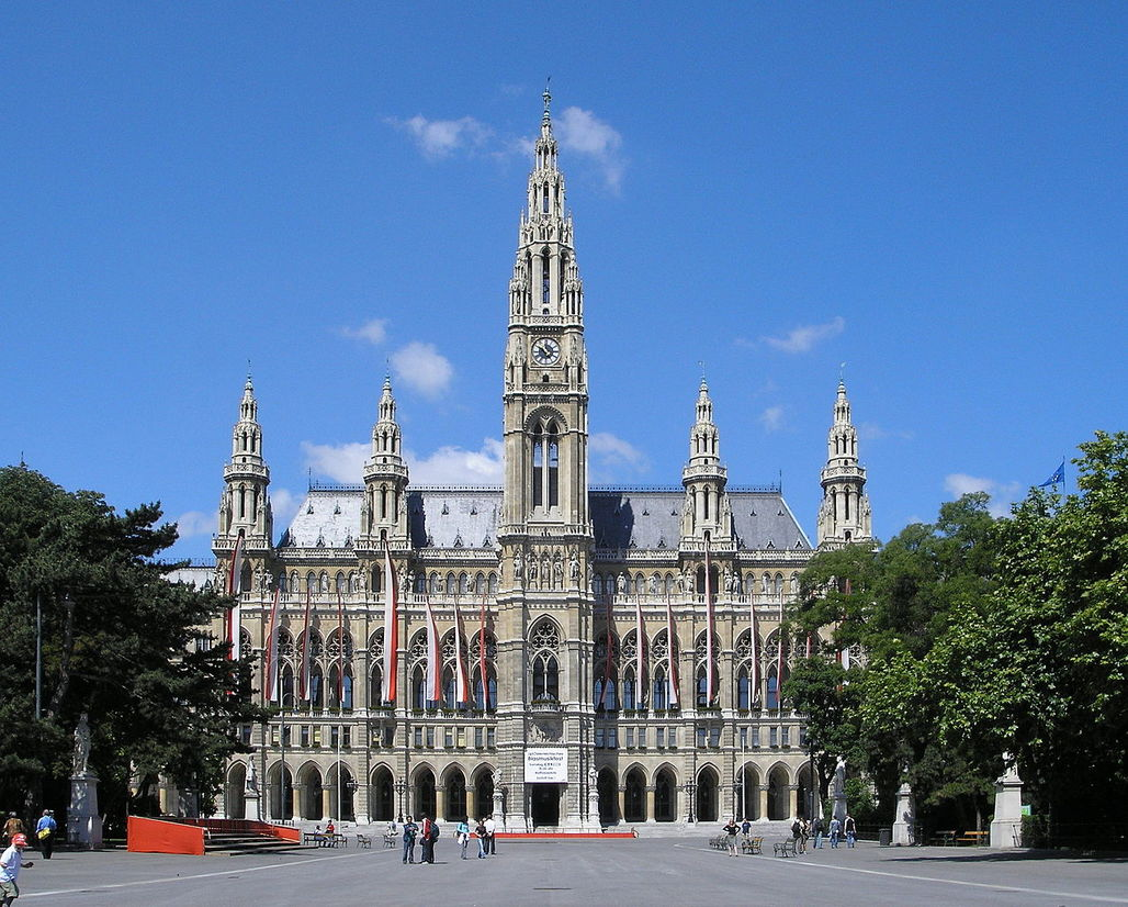 A number of forward-looking political decision must have been passed in Viennas mighty city hall to place the Austrian capital consistently at top places of various livability indexes. (Image via Wikipedia)