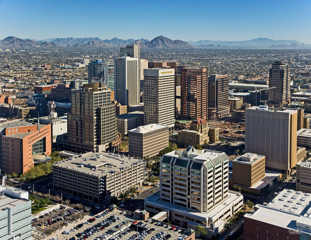 Downtown Phoenix in Maricopa County. Image via wikimedia.org