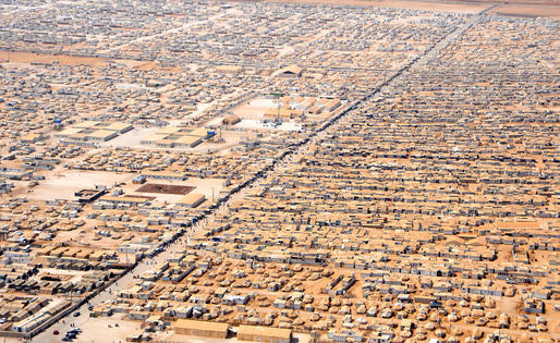 The Zaatari refugee camp in Jordan is the countrys fourth largest city and houses refugees of the Syrian conflict. Credit: Wikipedia