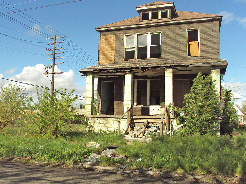 An abandoned house in Delray. Image via wikimedia.org